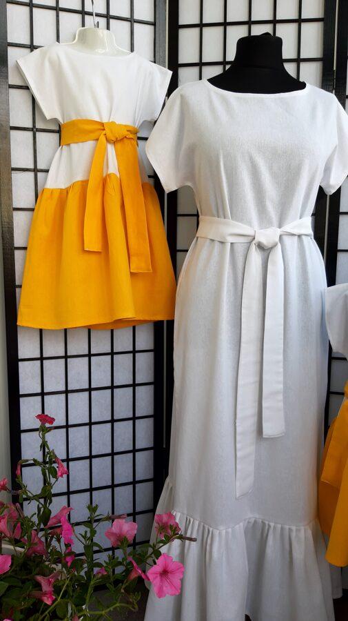 Mammas un meitu komplekts,lina kleitas.