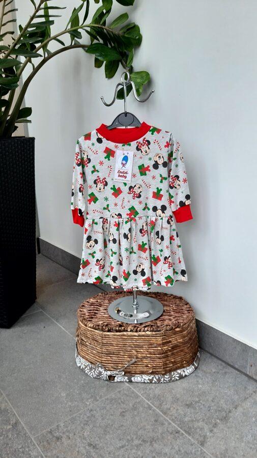 Ziemassvētku kleita.,,Miki peles,, 80-86 izm.