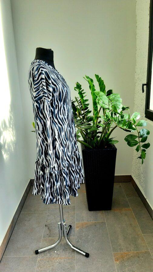 PĀRDOTA.Pelēka kleita ar svītrām. 40 izm.