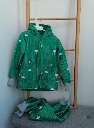Softshell audums ziemas , zaļā krāsā ,Lietussargi,,