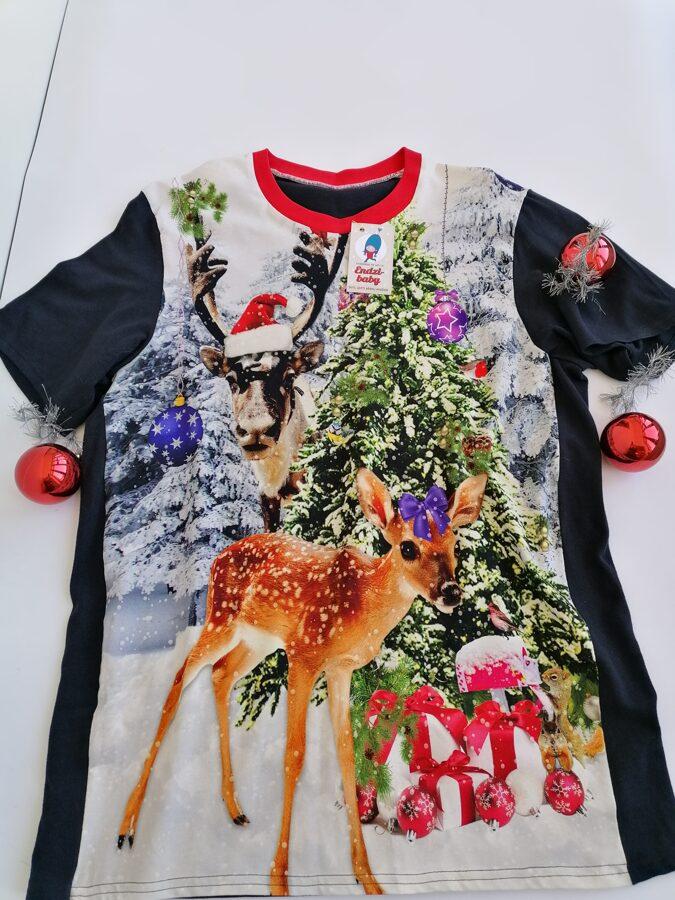 T-krekls Ziemassvētki, zils. L/XL izm,