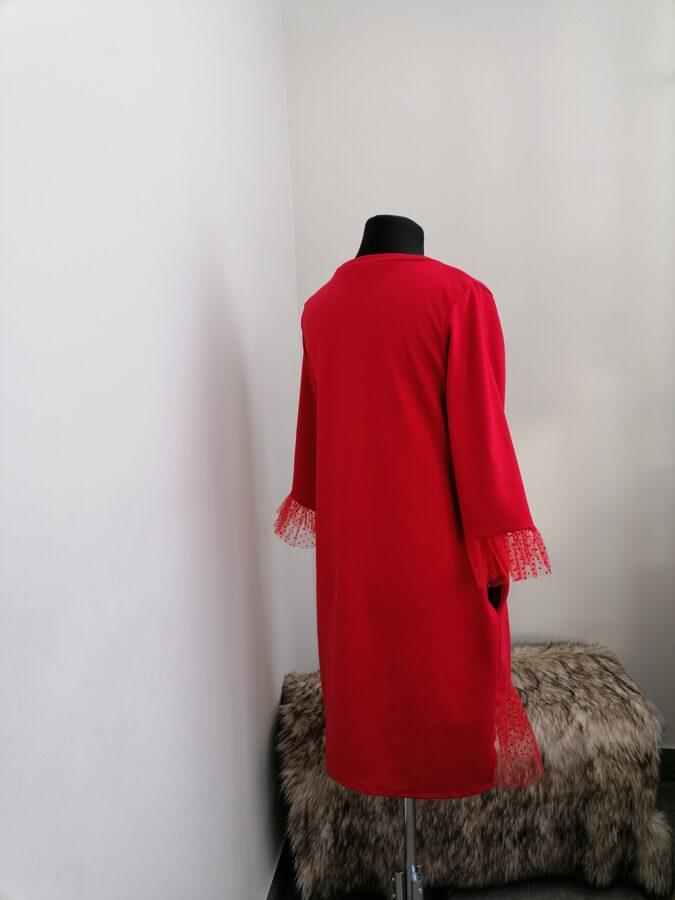 Sarkana kleita ar sarkanu pumpiņtillu.40/42 izm/