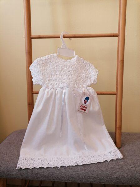 Balta kristību kleita. 56-80.izm.