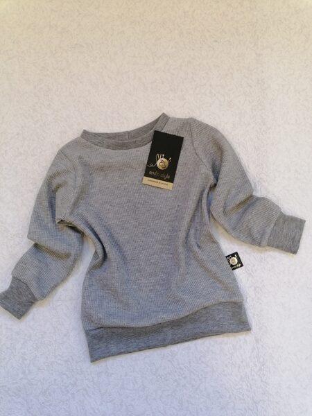 Termoregulējošs džemperis pelēkā krāsā. 74-134 izm.