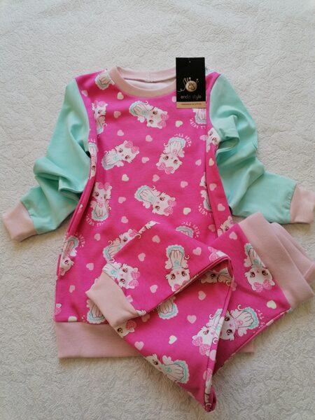 Bērnu pidžamma. ''Kaķēni nr2.'' 110 izm. , 116 izm.