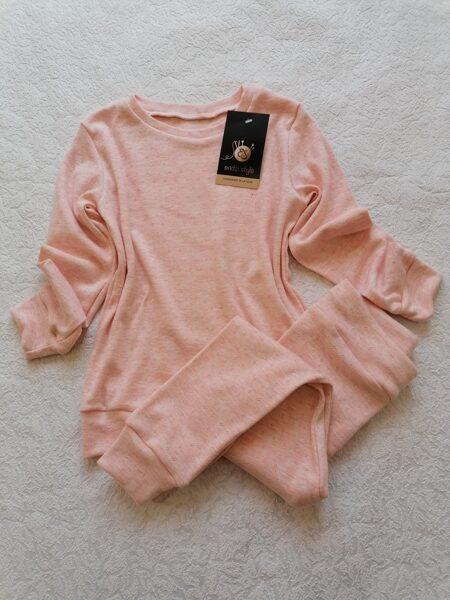 Gaiši rozā bērnu pidžamma. 74 izm. - 134 izm.